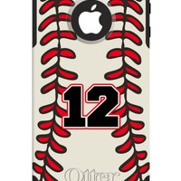 Baseball name number CUSTOM monogrammed OTTERBOX® Commuter Iphone 4/4S 5 case