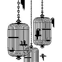 LIVING ROOM WALL STICKERS: BIRDCAGES