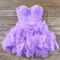 Spool Couture Wild Lavender Dress, Sweet Women's Party Dresses