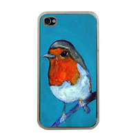 Robin iphone case iphone 4 cover iphone 4s by HeavenlyCreaturesArt