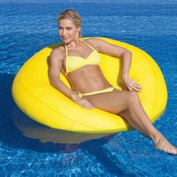 Neo Beanbag Chair Swimming Pool Floats at Brookstone—Buy Now!