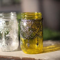 5 Spaces To Decorate With Our Hand-Painted Mason Jar Lanterns