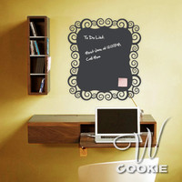 Swirl Shaped Chalkboard Vinyl Decal by wcookie on Etsy
