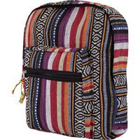 Woven Ethnic Stripe Backpack