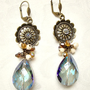 Blue Chinese Crystal Tear Drop Earrings by VartJewelry on Etsy