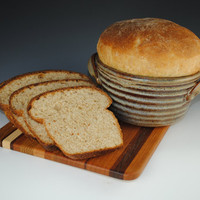 Bread Baker in our Earthy Brown Glaze Bread Crock by nealpottery