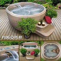 LifeSmart Retreat Plug 'n' Play Oval Spa with Steps - Sam's Club