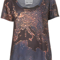 Europe Night Map Tee By Tee and Cake - Jersey Tops  - Clothing