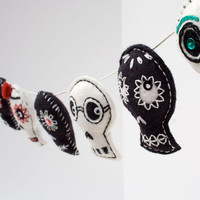 Day of the Dead Sugar Skull decoration garland by RawBoneStudio