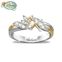 "Amazon.com: ""Embrace The Magic"" Tinker Bell Ring: Jewelry"