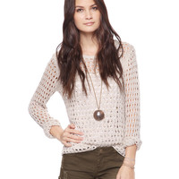 Relaxed Net Sweater | FOREVER21 - 2000037429