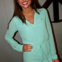Mint Shirt Dress | The Rage