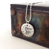 inspiration necklace free spirit  hand stamped by WyomingCreative