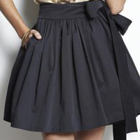 Black Wrap Skirt - Oscar Wrap Skirt | UsTrendy