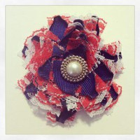 Handmade RED WHITE AND BLUE hair clip 355 by RABOGNER on Zibbet