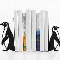 Bookends -Penguins- laser cut for precision these bookends will hold your favorite cookbooks