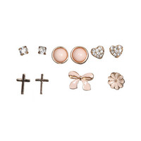 6 Epoxy Bow Earring Set | Shop Accessories at Wet Seal