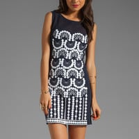 Nanette Lepore Comic Book Knit Dress in Navy/White from REVOLVEclothing.com