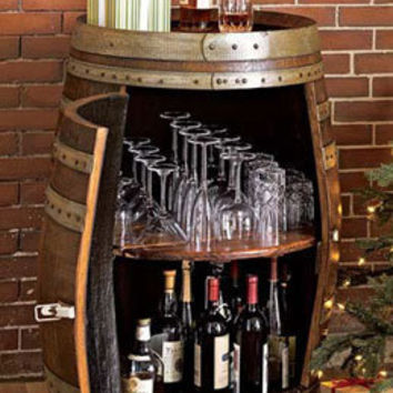 Rolling Wine Barrel Bar / Oenophile's Bar -- Orvis