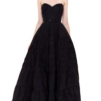 Strapless Silk Faille Gown by Rochas Now Available on Moda Operandi