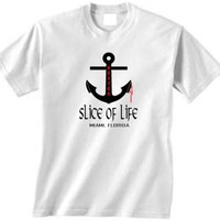 Dexter White Tshirt Slice of Life Anchor Miami Florida Size EXTRA LARGE