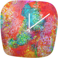 Stephanie Corfee Dappled Light Modern Clock
