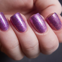 Lilac Dreams Nail Polish  Purple Pink Glitter Nail by KBShimmer