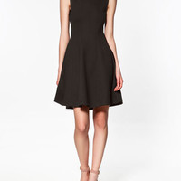 DRESS WITH FLARED SKIRT - Dresses - Woman - ZARA Spain