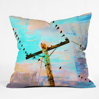 DENY Designs Home Accessories | Shannon Clark Modern Birds Throw Pillow