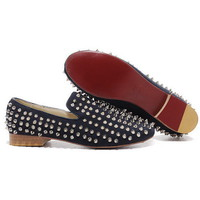 Shop Christian Louboutin Men Flats, Red Bottom Mens Flats