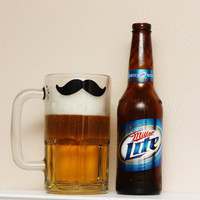 Mustache Beer Mug  Glass Stein  Great by TheBeautifulHome on Etsy
