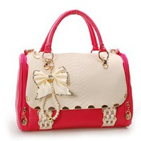 Bestgoods  Nice Bowknot Red Handbag For Lady