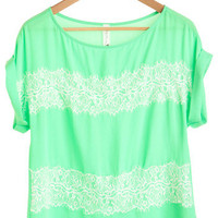 Spearmint to Be Top | Mod Retro Vintage Short Sleeve Shirts | ModCloth.com