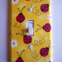 Lady Bugs Single Toggle Switchplate