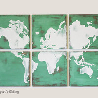 The Vintage World Map Collection XV by CallaghanArtGallery on Etsy