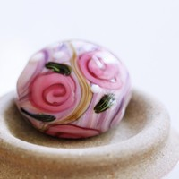 Country Roses I SRA Lampwork Focal