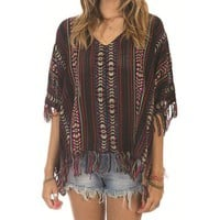 Billabong Still Dreamin Poncho - Black Multi - J5031STI				 | 