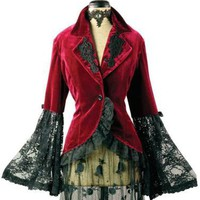 Victorian trading Co. - www.victoriantradingco.com - Velvet Corset Jacket