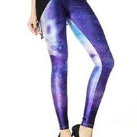 Amazon.com: Blooms - Galaxy Colorful Calico Painting Footless Pantyhose Leggings Quality Assurance One Size Multi-Color Chose (DK01): Clothing