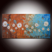 Large Original Abstract Painting Sculpted by FlowerArtPainting