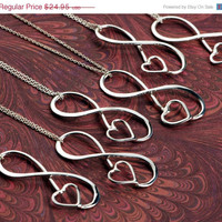 ON SALE Infinity Pendant  Bridesmaid by TheJewelryGirlsPlace