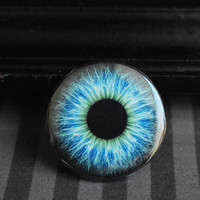 Eyeball pinback button - blue eye