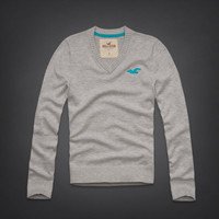 Hollister Mens - Aqua/Grey Huntington Beach Sweater