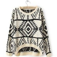 Moon Shine Apparel — Knitted Tribal Print Sweater