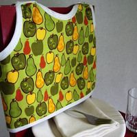 Pear and Apple Reversible Bib by maddywear