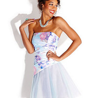 Jump Juniors Dress, Strapless Floral-Print Mini - Juniors Dresses - Macy's