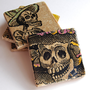 Day of the Dead coasters set of 4 by thepaintedlily on Etsy