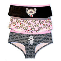 Soft Kitty Panties, 3-Pack