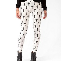 Cross Print Leggings