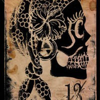 Gypsy Skull 20x30 archival print | MakeArtAvailable - Reproduction on ArtFire